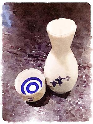 日本酒加工画像
