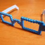 こども大喜び!アイロンビーズで立体型メガネを作った!