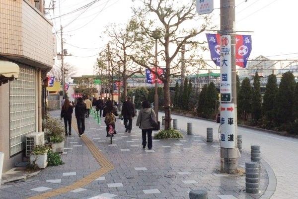 府中駅から府中本町駅まで歩く