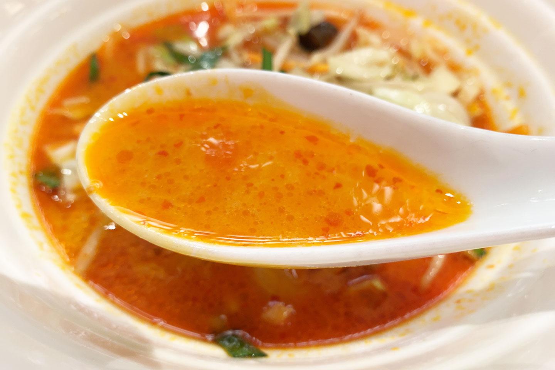 野菜担々麺 スープ